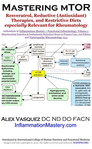 Mastering mTOR: Resveratrol, Reductive (Antioxidant) Therapies, and Restrictive Diets especially Relevant for Rheumatology: Excerpted from to Inflammation ... Clinical Nutrition and Functional Medicine)