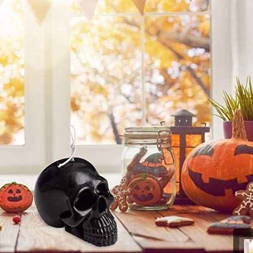 courti 3D Halloween Totenkopf Kuchen Dekorative Silikonform Handarbeit Seife Kerze Form Schädelkerze Silikonform Schädelförmige Haltbare Halloween-Osterkerzenform