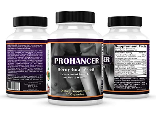 Prohancer Horny Goat Weed Extract with Maca Root - 60 Caps
