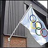 THE FLAGMAN 6ft ALUMINIUM WALL MOUNTED FLAG POLE INCLUDING FIXTURES AND FITTINGS.FREE POST