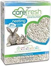 Carefresh 99% Dust-Free White Natural Paper Nesting Small Pet Bedding with Odor Control, 50 L