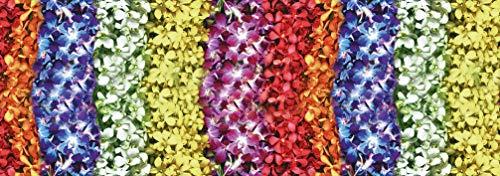 Centesimo Web Shop Tappeto Gommato 9 Misure Antiscivolo Multiuso Tappetino Passatoia Cucina Floreale Fiori Arcobaleno Petali - Vario - 50x190 cm