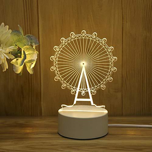 LED acryl tafellamp nachtlicht 3D slaapkamer slaapkamer romantische sfeerlamp bedlampje verjaardagscadeau paar