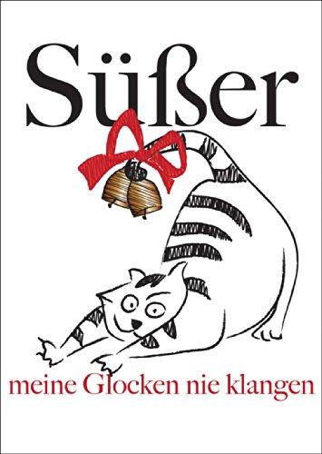 Kartenkaufrausch Komische kerstkaart met vette kat: schattige mijn klokken nooit te horen • Kerstwenskaarten set met envelop voor het feest van de liefde als cadeaukaart voor familie en vrienden