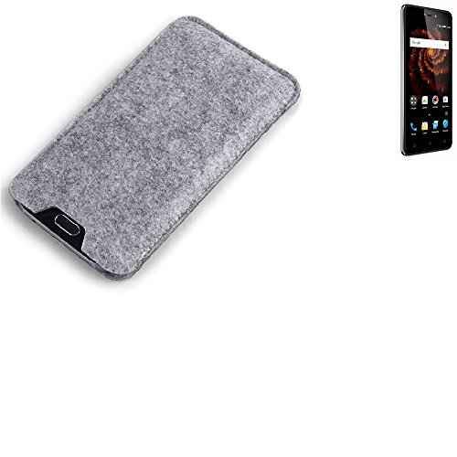 K-S-Trade® Filz Schutz Hülle Für Allview X3 Soul Lite Schutzhülle Filztasche Filz Tasche Case Sleeve Handyhülle Filzhülle Grau