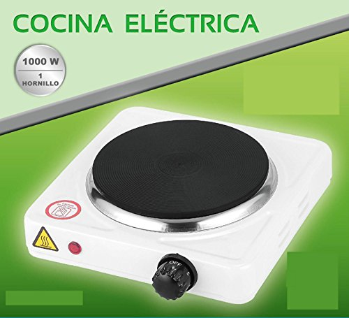 COCINA ELECTRICA HORNILLO 1000W 1 FUEGO PLACA ELECTRICO CAMPING GARANTIA