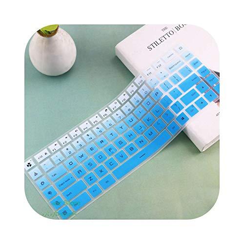 Siliconen Laptop Keyboard Cover Case Beschermende Film Huidbeschermer Voor Xiaomi Mi Gaming Laptop 15 15.6'' Inch Gtx 1060 Eén maat fadeblue