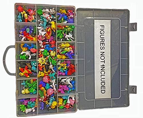 Generiska actionfigurer 144 st set komplett spelsetfodral med e-bok av aska märke | i vacker plast leksaksbox förvaring organisering | legendarisk figur | lämplig som tårtunderlägg | 2-3 cm flerfärgad