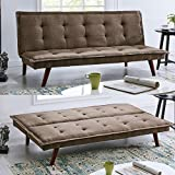 BRAVICH <span class='highlight'>Modern</span> TONI Scandinavian Brown 2/3 Seater <span class='highlight'>Sofa</span> <span class='highlight'>Bed</span> Fabric Couch Settee Click Clack <span class='highlight'>Sofa</span> <span class='highlight'>Bed</span> Recliner <span class='highlight'>Bed</span> <span class='highlight'>Sofa</span> For <span class='highlight'>Living</span> <span class='highlight'>Room</span> <span class='highlight'>Bed</span><span class='highlight'>room</span>