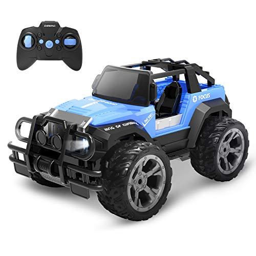 DEERC DE42 RC Ferngesteuertes Auto für Kinder,Wasserdicht Car 1:18 Spielzeug mit 80 Min. Lange Laugzeit,Fernbedienungsauto Offroad mit 2.4 GHz Fernbedienung,Rennauto Outdoor und Indoor Fahrzeug Modell