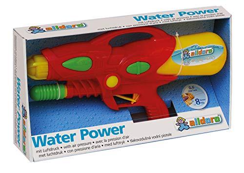alldoro 60101 - Water Power Wasserpistole ca. 38 cm, Reichweite bis zu 8 Meter, Wasserkanone mit 510 ml Wassertank, Wasserspritzpistole für Strand, Garten und Freizeit, für Kinder ab 3 Jahren