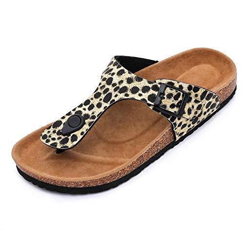 COQUI Zapatillas de Verano de Mujer,Zapato de flopp de Cash Cash Flow Mid-Bool Fondo no Deslizante cómodo-Amarillo_37