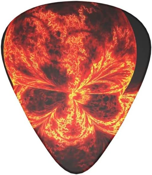 Great interest Portland Mall Guitar Pick Cool Fire Skull Picks Pack Gu 12 For Electric