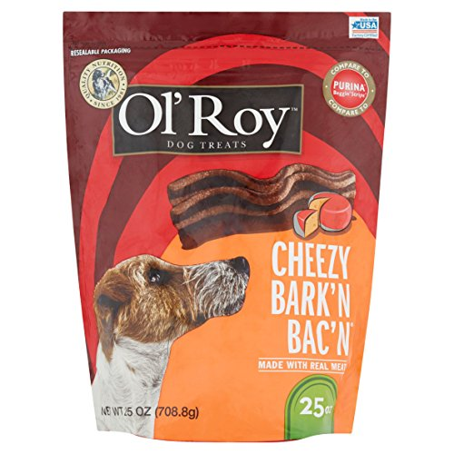 Ol' Roy Cheezy Bark'n Bac'n Dog Treats, 25 Oz (1)