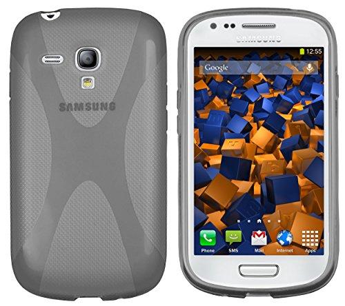 mumbi X-TPU Hülle kompatibel mit Samsung Galaxy S3 Mini Handy Case Handyhülle, transparent schwarz