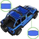 Alien Sunshade Jeep Wrangler JLU (2018-2021) – Front & Rear Mesh Sun Shade for Jeep JL Unlimited - Blocks UV, Wind, Noise - Bikini JLkini Top Cover for Sport, Sport S, Sahara, Rubicon (Blue)