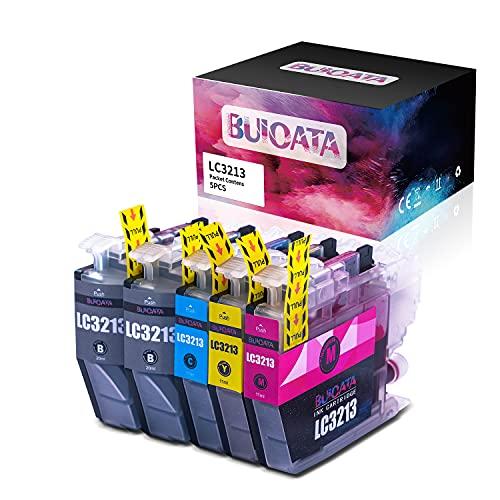 BUIOATA LC3213 LC-3213 - Cartucho de tinta compatible para impresora Brother MFC-J491DW MFC-J497DW DCP-J572DW DCP-J772DW DCP-J774DW MFC-J890DW MFC-J895DW (2 negro, cian, magenta, amarillo), 5 paquetes