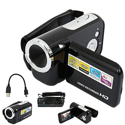 NMHSC Cámara de vídeo digital, 2 pulgadas LCD 16MP Digital Mini Videocámara Videocámara de Regalo para Niños Niños, Adecuado para Niños/Niños/Principiantes/Mayores