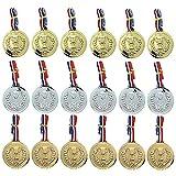 KINOKINO メダル 18個 セット 金メダル 銀メダル 銅メダル 各6個 運動会 グッズ