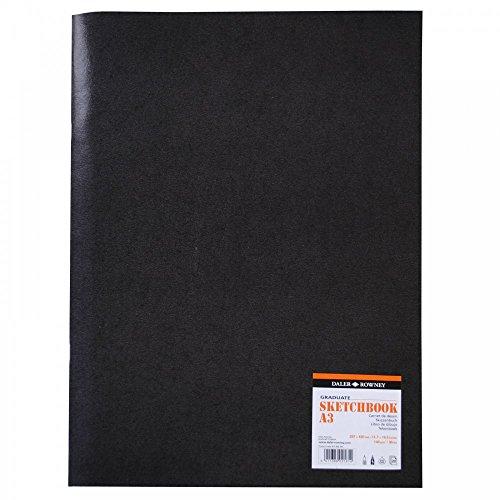 Cuaderno Grapado ideal para Dibujo DALER ROWNEY Graduate, de Formato 29,7 x 42 cm, con 20 Hojas de Papel de 140 g/m2 de Grano Fino