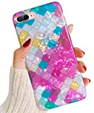 J.west iPhone 8 Plus Case,iPhone 7 Plus Case, iPhone 7 Plus TPU Case Luxury Sparkle Bling Crystal Clear Soft TPU Silicone Back Cover for Girls Women for Apple 5.5' iPhone 8 Plus/7 Plus (Rose)