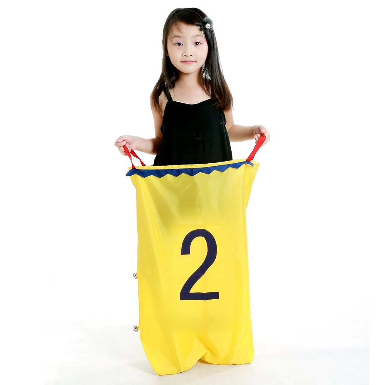社員セレナリボンPerfeclan キッズキッズファミリーレースゲームジャンピングサックおもちゃ楽しいスポーツガーデンアウトドアスクールAtivityバランストレーニング - 黄2