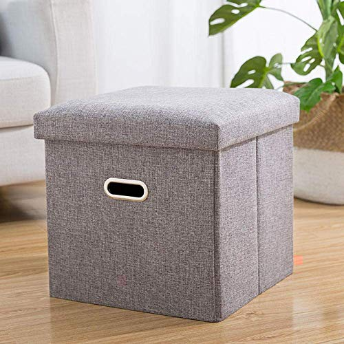 SEESEE.U Laundry Baskets Collapsible,Gray Can Sit People Laundry Hampers Multiuse Storage Bag With Handle Collapsible Storage Household Sundries Bag Sorter