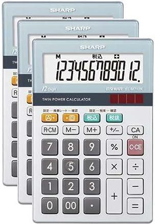 シャープ 電卓 小型卓上タイプ EL-M712K×3
