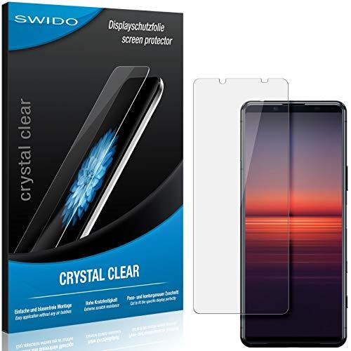 SWIDO Schutzfolie für Sony Xperia 5 II [2 Stück] Kristall-Klar, Hoher Festigkeitgrad, Schutz vor Öl, Staub & Kratzer/Glasfolie, Bildschirmschutz, Bildschirmschutzfolie, Panzerglas-Folie