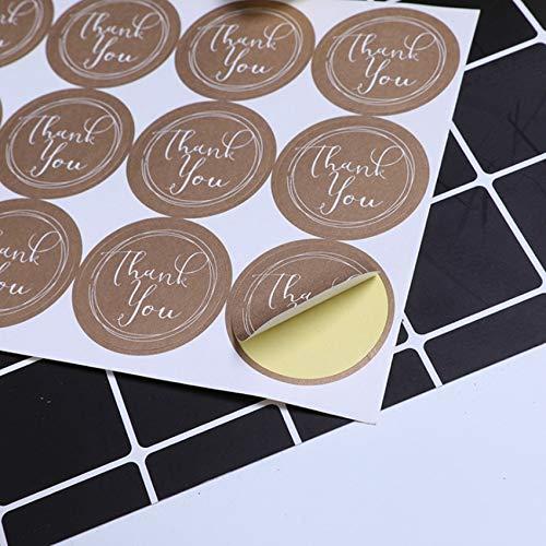 YCYY 120 Unids/Lote Lindo Redondo Gracias Etiqueta Dskin Etiqueta Hecha A Mano DIY Autoadhesivo Etiqueta de Embalaje de Pastel