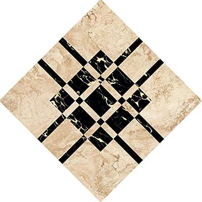 Clearance Sale!DEESEE(TM)????????10 Pcs/Set Ceramic Tile Stickers Self Adhesive Tiles Art Diagonal 3D Floor Stick