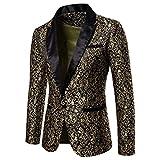 Auppy Traje para hombre con diseño floral de fiesta, traje elegante para cena, esmoquin de boda, chaqueta, Halloween, cosplay, esmoquin