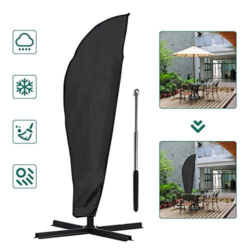 COSANSYS - Funda protectora para sombrilla, resistente al agua, con una barra telescópica, color negro (70 x 50 x 40 cm)