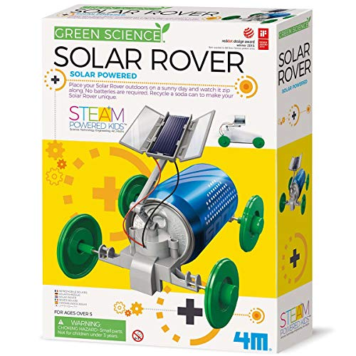 4M 3782 Green Science Solar Rover Kit DIY Solar Power, Eco-Engineering Stem Toys Educational Gift for Kids & Teens, Boys & Girls