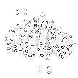 YouFia 300 Stück (10x10mm )Buchstabenperlen Würfel Perlen zum auffädeln Alphabet Beads Zwischenperlen DIY Armbänder Halsketten