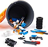 Meccano Junior, 150-Piece Bucket STEAM Model Building Kit for Open-Ended Play, for Kids Aged 5 and Up