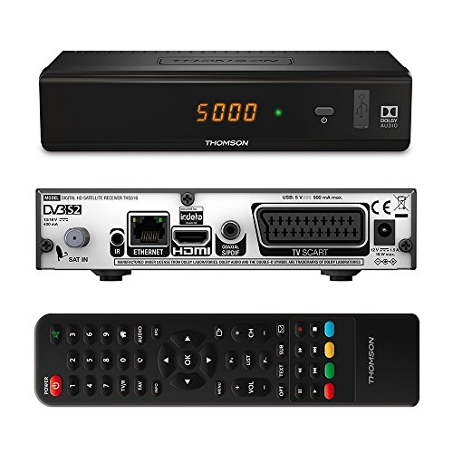 THOMSON THS816 HD Satelliten Receiver DVB-S2 ORF Digital Direkt und simpliTV SAT, kartenlos, nur für Österreich geeignet, Full HD (HDTV, HDMI, SCART, USB, LAN) schwarz