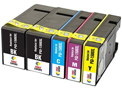 PGI-1500XL TONER EXPERTE® 5 XL Druckerpatronen kompatibel für Canon MAXIFY MB2350 MB2750 MB2755 MB2050 MB2150 MB2155 9182B001 9193B001 9194B001 9195B001 | hohe Kapazität