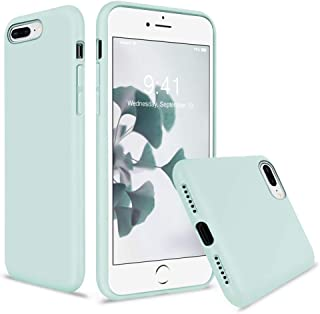 Vooii iPhone 8 Plus Case, iPhone 7 Plus Case, Soft Silicone Gel Rubber Bumper Case Microfiber Lining Hard Shell Shockproof Full-Body Protective Case Cover for iPhone 7 Plus /8 Plus - Mint