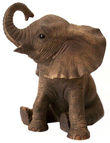 The Leonardo Collection - Statuetta con baby elefante africano, collezione 'Out Of Africa', realistica, 13 cm
