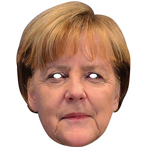 PARTY DISCOUNT NEU Maske Angela Merkel aus Pappe