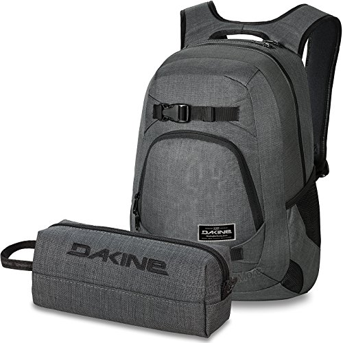 DAKINE 2er Set Laptop Rucksack Explorer + Accessory CASE Mäppchen Carbon