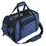 Pet Carrier Padded Soft Sided Airline Approved Portable Collapsible Mesh Breathable Carrier for...