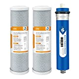 Combo Pack for FX12M and FX12P, Membrane Solutions Water Filter Replacement Cartridge Compatible GE RO Set...