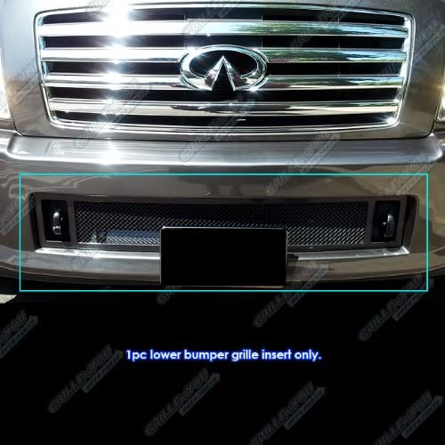 APS Compatible with 04-10 Infiniti Max 69% OFF Bumper Mesh QX56 Lower Brand new Black