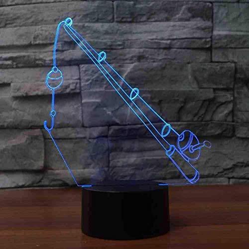 Luce Notturna 7 Colori Canna Da Pesca Lampada Da Modellazione Luci Visive A Led Visivi 3D Per Bambini Tocco Usb Lampada Da Tavolo Lampara Lampada Da Notte Per Bambini