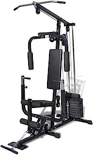 mewmewcat Maquina Multifuncional de Ejercicio Multiestación Fitness Gym 150 x 99 x 204 cm