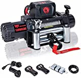 TYT T1 Series Winch 13000 lb. Advanced Load Capacity Electric Winch,12V Waterproof IP67 Electric Winch with Hawse Fairlead, Steel Cable Truck Winch with Wireless Handheld Remote and Wired Handle