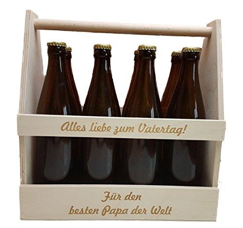 KF-Holz 8er Bierträger/Männerhandtasche mit gratis Gravur