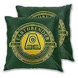 QWEQW Xcphmy Atla Earthbender Symbol Cushion Home Sofa Decoration Comfortable Pillowcase (2 Sets) 22'X22'